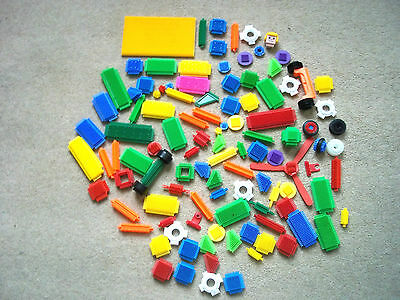 Large Selection Of Assorted  Sticklebricks 111 Pieces Approx 810G Free P&p