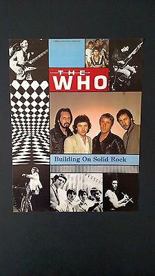 "The Who  ""building On Solid Rock"" 1981,   Rare Original Print,promo Poster Ad"