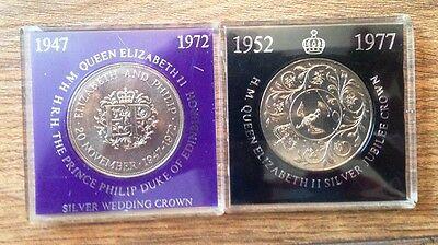 A pair of Silver commemorative Coins from Nat West