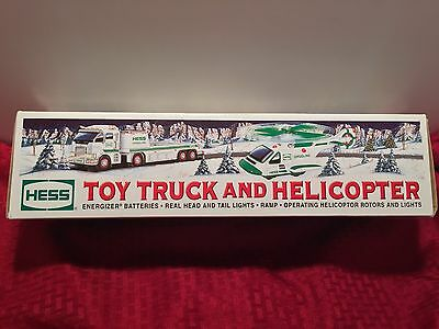 """NEW!  HESS 2006 TOY TRUCK and HELICOPTER """"Operating Helicopter Rotors & Lights"""""""