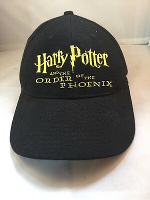 Harry Potter And The Order Of The Phoenix Baseball Cap Hat Black SCHOLASTIC 2003