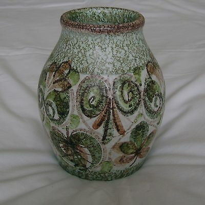 Denby Glyn Colledge Mid Cntury Modern Early 1960s Abstract Floral Design Vase