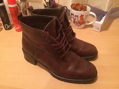 Vintage Leather Ankle Boots 4 37