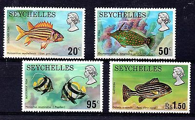 Seychelles (846) 1974 Fish set Lightly mounted mint Sg323-6