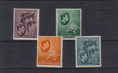 Seychelles George VI 1938-49 Four values to 9c mint