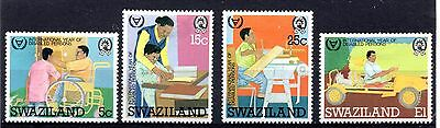 Swaziland (1019) 1981 International Year of the Disabled Persons set Lightly mou
