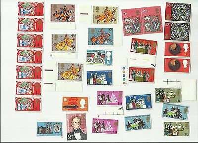 Job Lot Of British Vintage Stamps Unused And Unmounted Lot #  8
