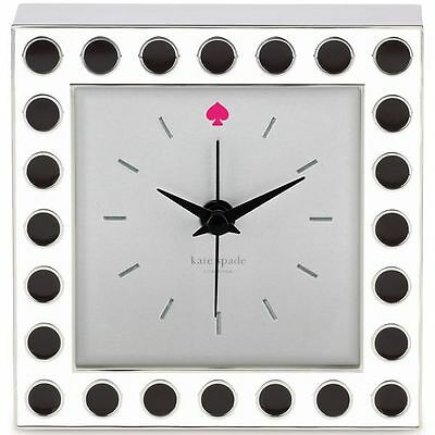 NWT Kate Spade New York Cross Pointe Spots Clock by Lenox  NEW IN BOXn