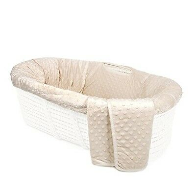 Tadpoles Minky Dot Moses Basket Bedding Only , Natural