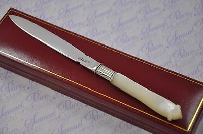 Awesome Mother Of Pearl & Silver Blade Letter Opener/paper Knife London 1799