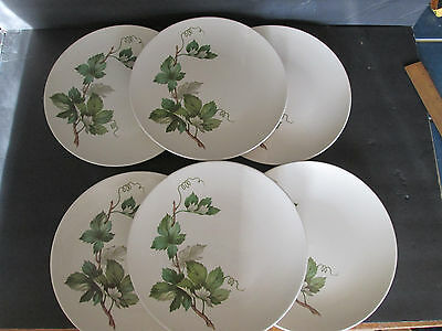 "Knowles Grapevine 6 dinner plates 10 1/4"" diameter,Vintage, USA FREE SHIPPING"