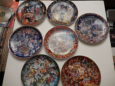 Franklin Mint Pepsi Cola Plate Collection Limited 7 Holiday Numbered Bill Bell