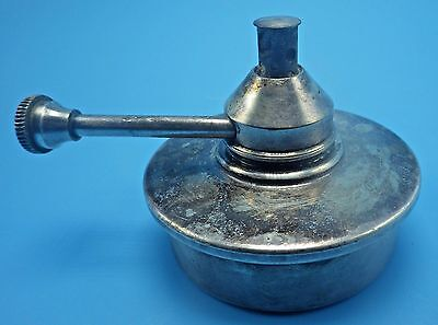 Portable Silver plate Oil Lamp Handle Vintage