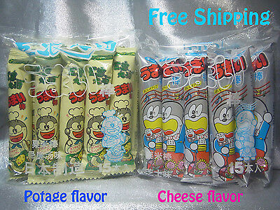 Japanese Snacks Umaibo Corn Snack (Potage & Cheese Flavor)- 6g x 15 sticks x 2