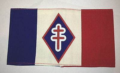 FREE FRENCH ARMY FFI  FRENCH RESISTANCE Armband type CROSS  SCREEN PRINTED