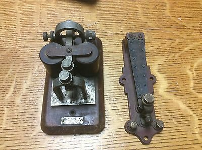 Western Electric Railroad Telegraph Key & Sounder or a thermostat Pat May 31, 92