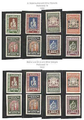 Lithuania Collection1929 - 1939. Min, Mnh & Used On Pages