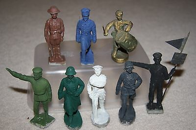 RARE 1930's Vintage Elastolin & Lineol Composition Toy Soldier Figures Germany