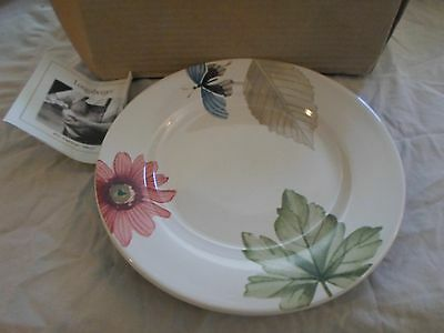 Longaberger Pottery Botanical Fields Set 3 Lunch Plates New In Box