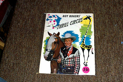 Roy Rogers Thrill Circus Program with Insert