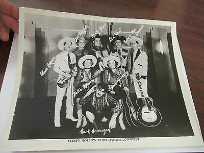 Vintage Hillbilly Country Band Promo Photo Sleepy Hollow Cowboys & Cowgirls