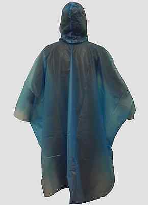 New Light Weight Rain Coat Poncho Waterproof Camping Hiking Hooded Cape Blue