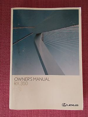 Lexus Rx 350 (2006 - 2008) Owners Manual - Owners Guide - Handbook. (Le 15)