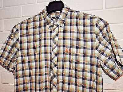 Fred Perry Check Boy's Shirt Size YL