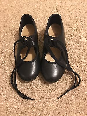 Girls dance black Tap Shoes Size 10 Starlite