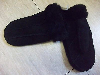 topshop new with tags ladies black suede mittens