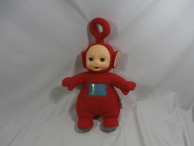 "1998 Playskool Plush Teletubbies Po 15.5"" Red Teletubbie Doll"