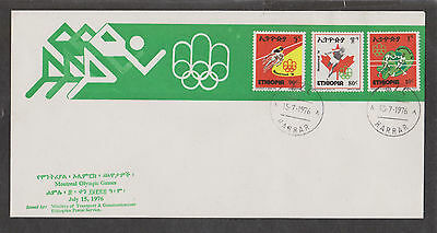 Ethhiopia, FDC, Olympic Games Montreal, July 15, 1976. Olympische Spiele Kanada