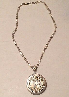G-Unit Bling Gold Necklace Round Pendant 50 Cent ~ Battery Operated ~ Untested