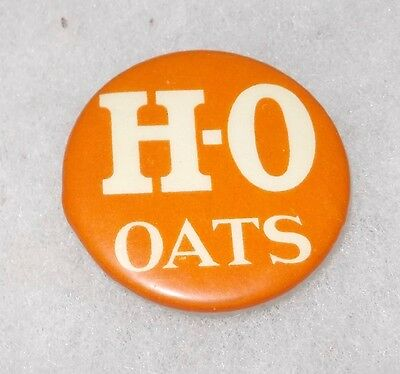 VINTAGE EARLY 1900's H-O OATS (BUFFALO) BASTIAN BROS (ROCHESTER, N.Y.) BUTTON
