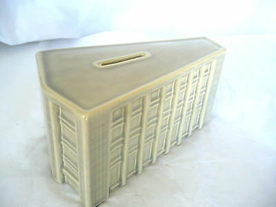 Vintage THE BROOKLYN SAVINGS BANK in the Civic Center - Ceramic Coin Bank - NICE