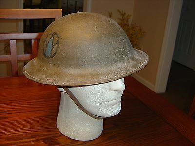 WWI US Helmet Doughboy 89th Div. Named.