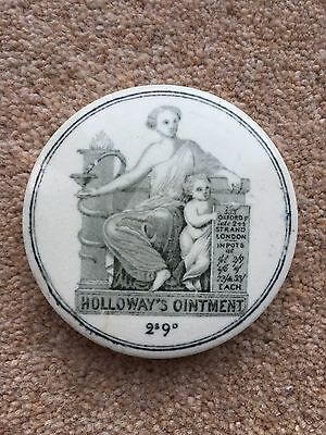 Victorian Holloway's Ointment Pot Lid