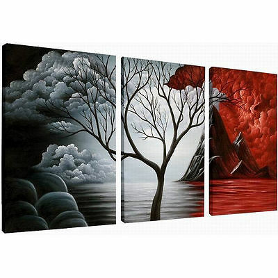 Framed Pictures Paintings Canvas Prints Wall Art Poster Home Decor Abstract Tree