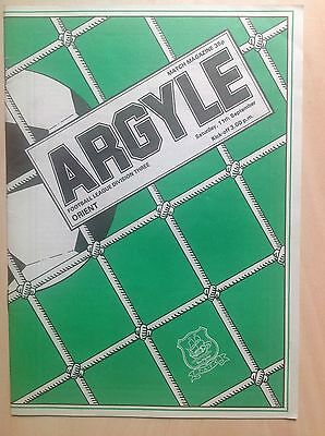 Plymouth v Orient 1982-83 programme