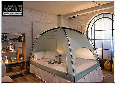 DDASUMI Warm Tent for Double Bed without Floor (Mint)