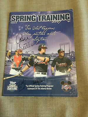 Signed Atlanta Braves Spring Training 2009 Programme By Whole Squad Roster