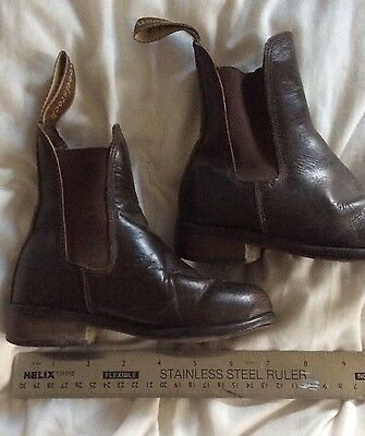 Childs Brown Woodstock Jodphur Boots Size 4.5