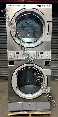Wascomat TD30.30 Stack Dryer, 30Lb, 120V, Gas, Coin, Reconditioned