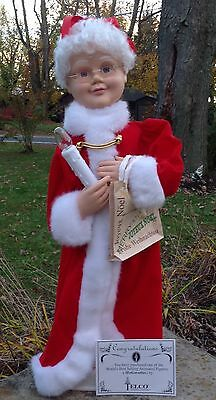 1996 Animated Mrs. Santa Claus Telco Motion-Ette In Box