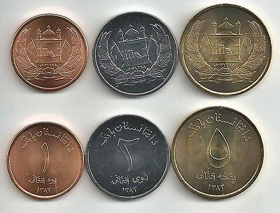 Afghanistan 3  Coin Dated 2004 Set Uncirculated