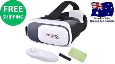 Bluetooth VR Box Virtual Reality 3D Glasses Games Headset Remote Android IOS