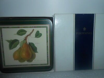 Set Of Six Pinpernel Coasters Hooker Fruit Scenes New In Box - See Photos