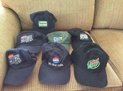 7 Pepsi Cola Hats, Mint 12-16 Years Old