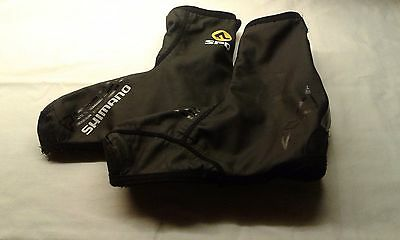 Shimano SPD waterproof/thermal lined cycling overshoes size Large used.