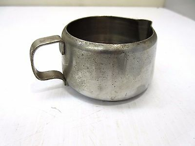 First Class PAN AM Airlines American PAA Coffee Creamer Stainless Steel